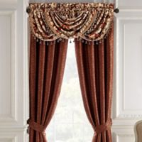 Croscill® Arden Waterfall Swag Window Valance in Red