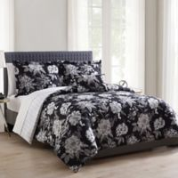 Morgan Home Franklin Reversible King Comforter Set in Black