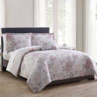 MHF Home Franklin Reversible King Comforter Set in Pink