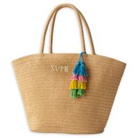 Cathy's Concepts Straw Tote in Tan