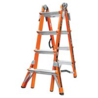 Little Giant® 17-Foot Conquest Type IA Fiberglass Ladder with V-Rung in Orange