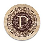 Monogram Letter  P  Coasters (Set of 4)