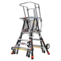 Little Giant® Adjustable Safety Cage 4-Step Ladder