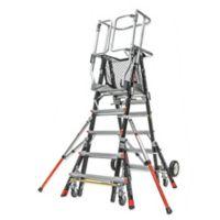Little Giant® Adjustable Safety Cage 8-Step Ladder