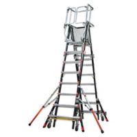 Little Giant® Adjustable Safety Cage 14-Step Ladder in Black