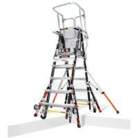 Little Giant® Adjustable Safety Cage™ 8-Step Ladder in Black