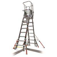 Little Giant® Adjustable Safety Cage™ 14-Step Ladder in Black