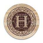 Monogram Letter  H  Coasters (Set of 4)