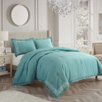 Nanshing Somerset Queen Duvet Cover Set in Aqua
