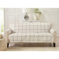 Great Bay Home Window Pane Sofa Protector in Ivory