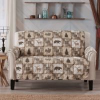 Great Bay Home Lodge Loveseat Protector in Tan/Beige