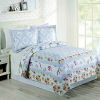 Mary Jane's Home Floral Patch King Quilt in Blue
