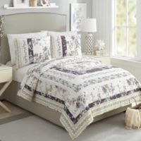 Mary Jane's Home Collected Wildflowers King Quilt in Purple