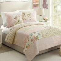 Mary Jane's Home Sweet Blossoms Reversible King Quilt in Pink