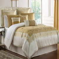 Marquis® by Waterford Russell Square Queen Comforter Set in Gold