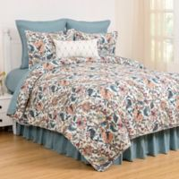 C & F Home Tansy Reversible King Quilt Set in Aegean