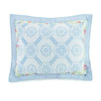 Mary Jane's Home Floral Patch Standard Pillow Sham in Blue