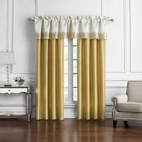 Marquis® by Waterford Russell Square 84-Inch Rod Pocket Window Curtain Panel Pair in Gold
