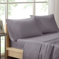 Sleep Philosophy Liquid Cotton 300-Thread-Count Standard Pillowcases in Grey (Set of 2)