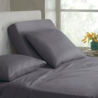 Modern Living Organic Cotton 300-Thread-Count Split King Sheet Set in Grey