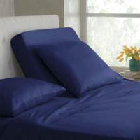 Modern Living Organic Cotton 300-Thread-Count Split King Sheet Set in Navy