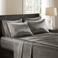 Madison Park Essentials Wrinkle Free Satin King Sheet Set in Grey