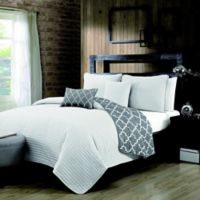 Avondale Manor Griffin Reversible King Quilt Set in White