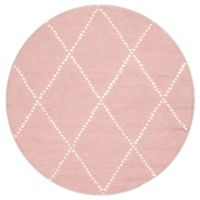 nuLOOM Elvia 4' Round Accent Rug in Baby Pink