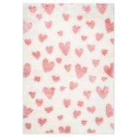 nuLOOM Alison Heart 4' x 6' Area Rug in Pink