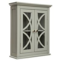 Double Door Wall Cabinet in Grey
