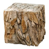 Uttermost Teakwood Bunching Cube Accent Table