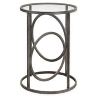 Uttermost Lucien Iron Accent Table in Black