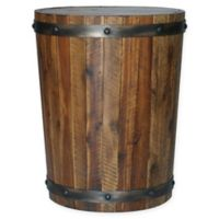 Uttermost Ceylon Authentic Wine Barrel Accent Table in Brown