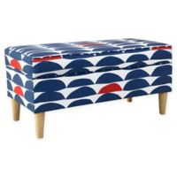 Skyline Furniture Milligan Storage Bench in Navy/Red