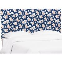 Skyline Furniture Lorenzo Queen Headboard in Navy