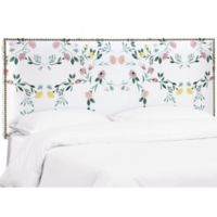 Skyline Furniture Meridian California King Upholstered Headboard in White