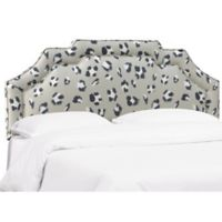 Skyline Furniture Danila King Upholstered Headboard in Cheetah Print