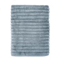 Turkish Ribbed Bath Sheet in Twilight Blue