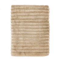 Turkish Ribbed Bath Sheet in Champagne