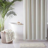 UGG® Skye Striped 72-Inch x 96-Inch Shower Curtain in Green