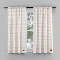 UGG® Lena Striped 35-Inch Rod Pocket Window Panels in Pink (Set of 2)