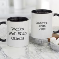 Office Expressions Personalized Coffee Mug 11 oz. in Black