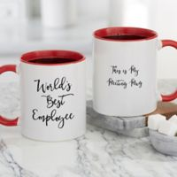 Office Expressions Personalized Coffee Mug 11 oz. in Red