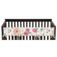 Sweet Jojo Designs Watercolor Floral Long Crib Rail Guard Cover