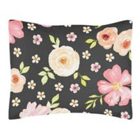 Sweet Jojo Designs Watercolor Floral Standard Pillow Sham