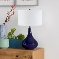 Hudson&canal Mirabella Table Lamp in Blue
