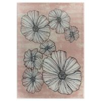 """Rugs America 5' X 7' Blossoms & Petals Contemporary Geometric Rug Pink Pink .5"""" Inches 0.5 60 Area R"""