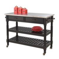 Home Styles Savannah Kitchen Cart in Black