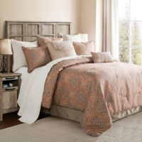 HiEnd Accents Sedona Queen Comforter Set in Pink/Taupe