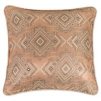 HiEnd Accents Sedona European Pillow Sham in Pink/Taupe